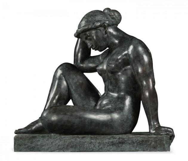 Art Deco Nude Female Left Sculpture