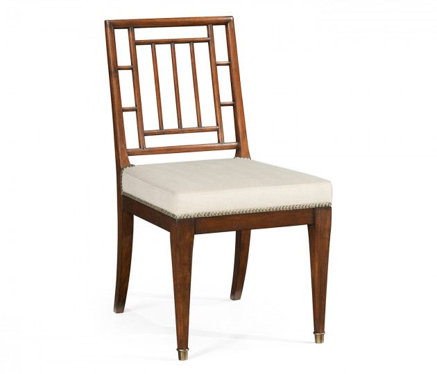 Charles X Antique Mahogany Dining Chair, Upholstered in MAZO