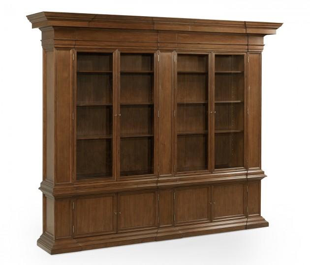 Venetian English Mahogany Bookcase