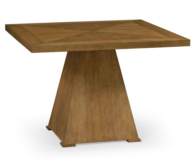 Square Brushed Medium Brown Oak End Table