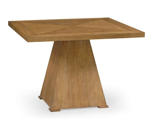 Square Brushed Medium Brown Oak End Table