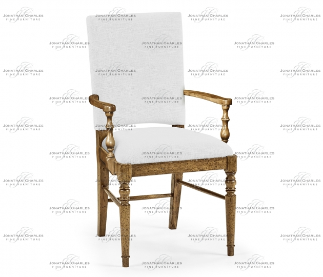 small rushmore Medium Driftwood Arm Chair, Upholstered in COM