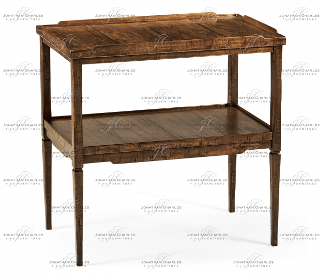 small rushmore Country Walnut Side Table
