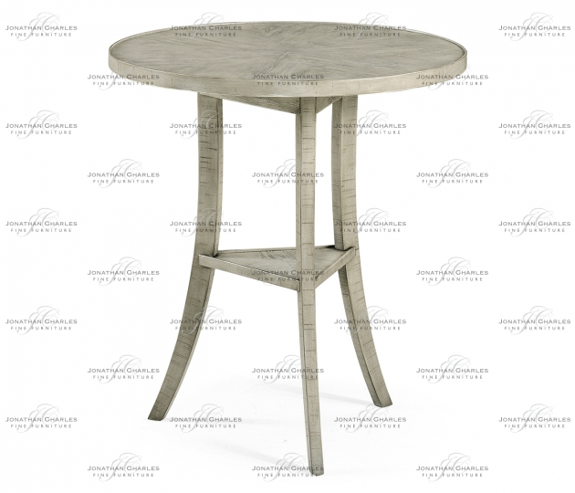 small rushmore Rustic Grey Round Lamp Table