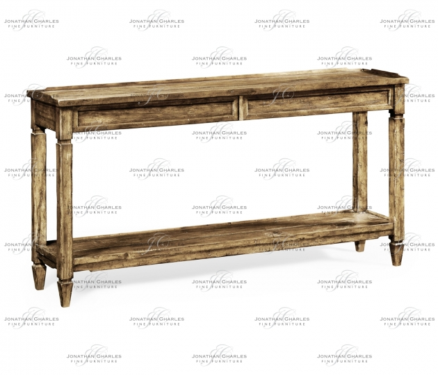 small rushmore Console Table with Drawer in Medium Driftwood