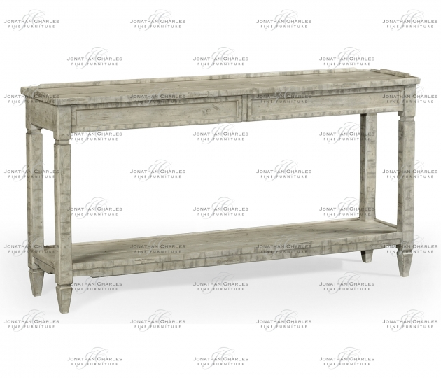 small rushmore Console Table with Drawer in Rustic Grey