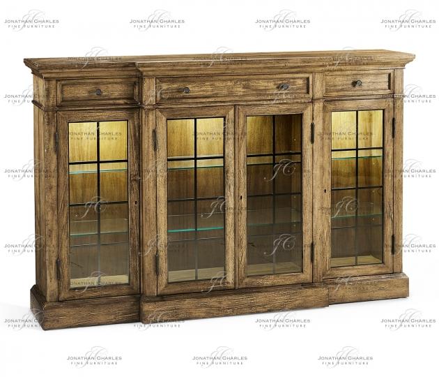 small rushmore Four Door China Display Cabinet