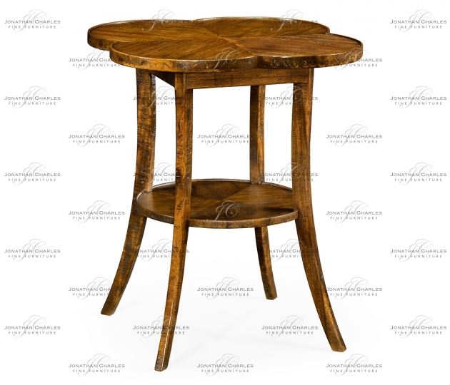 small rushmore Quatrefoil Lamp Table in Country Walnut