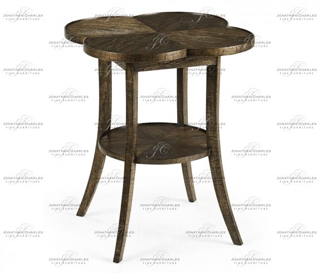 small rushmore Quatrefoil Lamp Table in Dark Driftwood