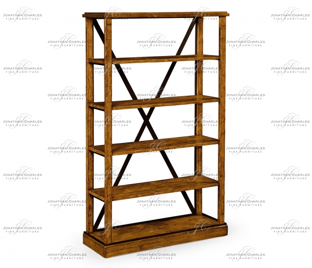 small rushmore Country Walnut Étagère or Bookcase