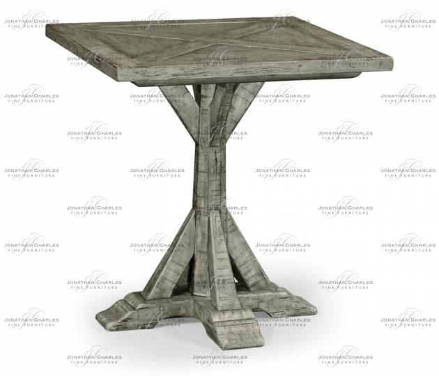 small rushmore Antique Dark Grey Square Side Table