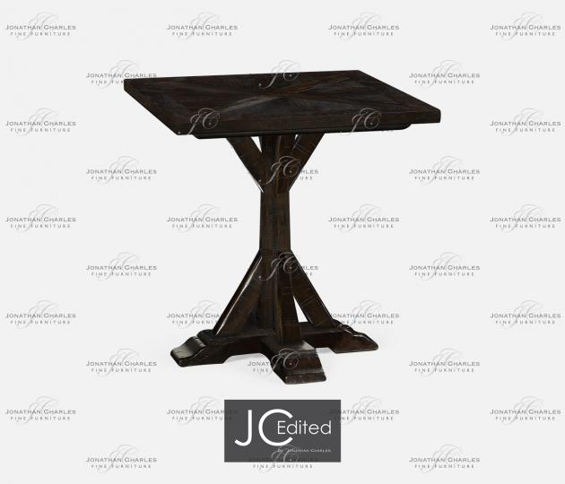 small rushmore Dark Ale Square Side Table