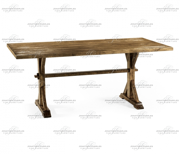 "small rushmore 72"" Solid Medium Driftwood Dining Table"