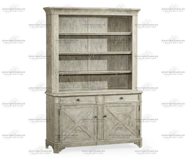small rushmore Rustic Grey China Cabinet