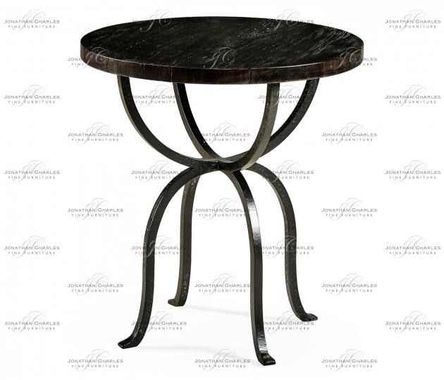 small rushmore Round Dark Ale & Iron Side Table