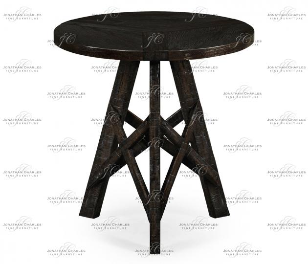 small rushmore Dark Ale Circular Lamp Table