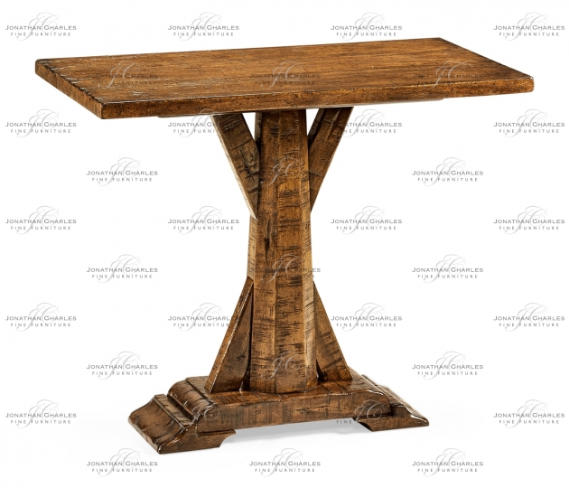 small rushmore Country Walnut Rectangular Side Table