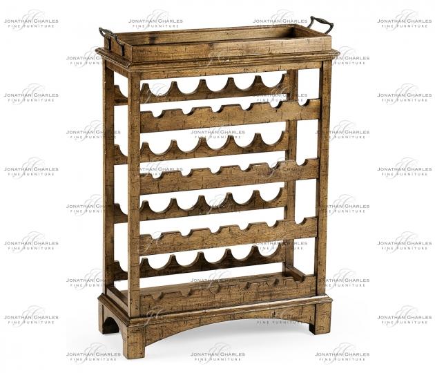 small rushmore Medium Driftwood Four–Tier Wine Shelf