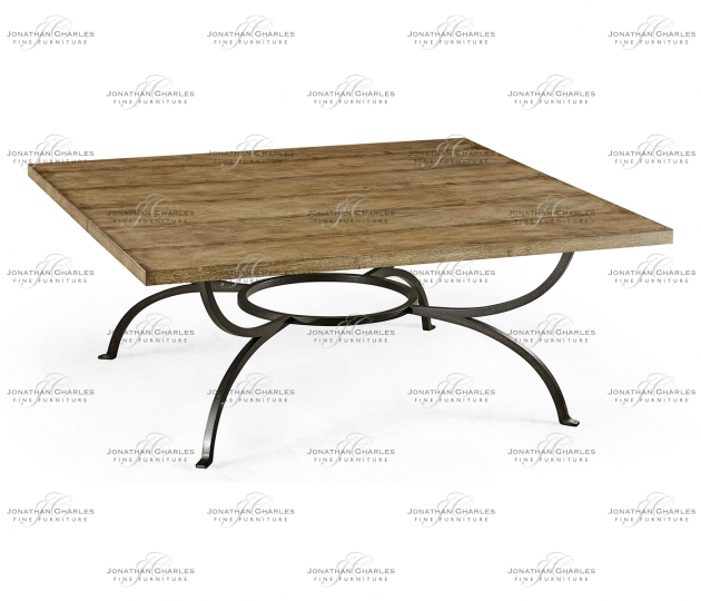 small rushmore Medium Brown Driftwood Panelled Square Coffee Table