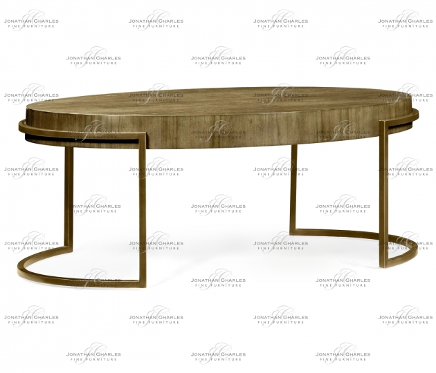 small rushmore Chestnut Oval Coffee Table