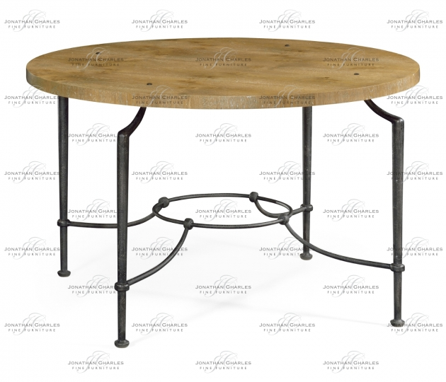 small rushmore Round Centre Table with Iron Base