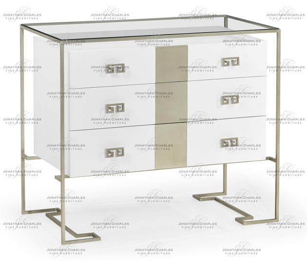 small rushmore Silver Iron Chest of Drawers in Biancaneve