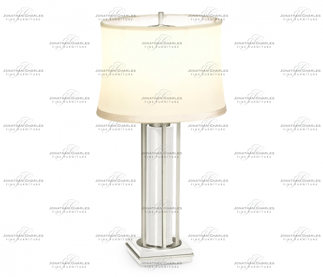 small rushmore Silver Iron Table Lamp in Biancaneve