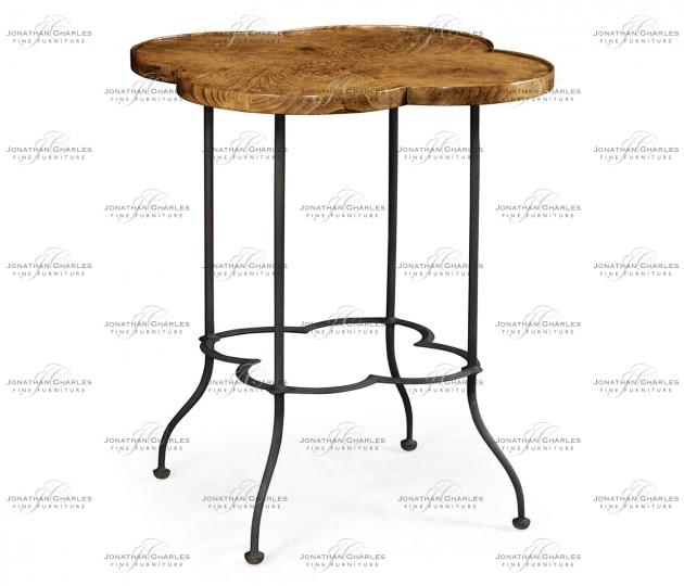 small rushmore Quatrefoil Light Brown Chestnut Lamp Table