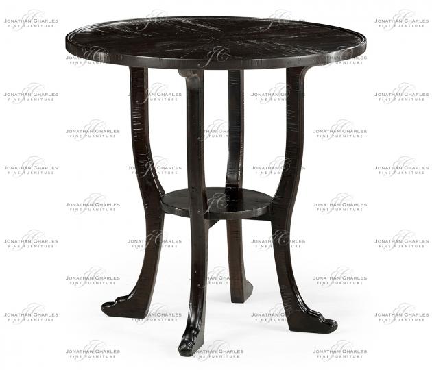 small rushmore Dark Ale Round Lamp Table