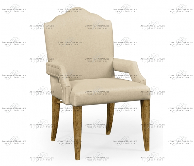 small rushmore High Back Light Brown Chestnut Arm Chair, Upholstered in MAZO