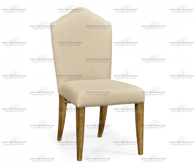 small rushmore High Back Light Brown Chestnut Side Chair, Upholstered in MAZO