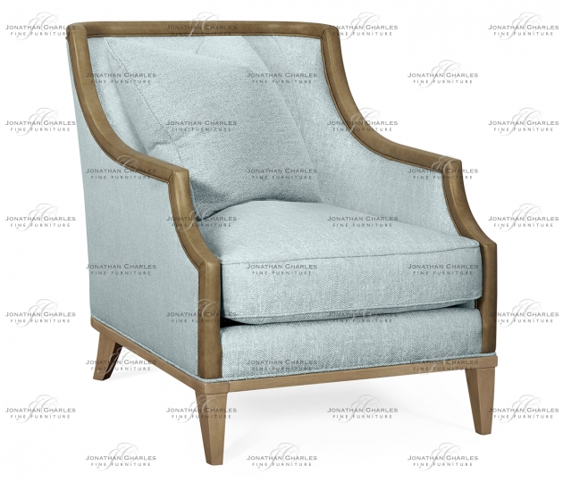 """small rushmore 29 1/4"""" Casual Sloped Golden Amber Sofa Chair, Upholstered in Will Gray Linen"""