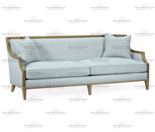 """small rushmore 86 1/2"""" Casual Sloped Golden Amber Sofa, Upholstered in Will Gray Linen"""