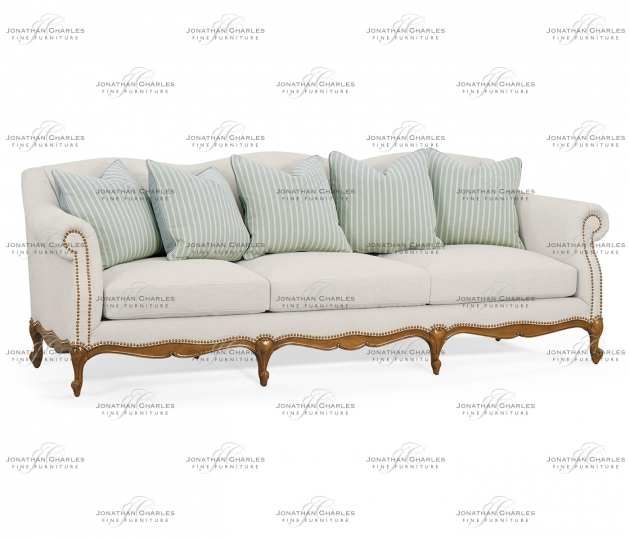 """small rushmore 101"""" Casual Lawson Style Grey Fruitwood Sofa, Upholstered in Will Linen"""