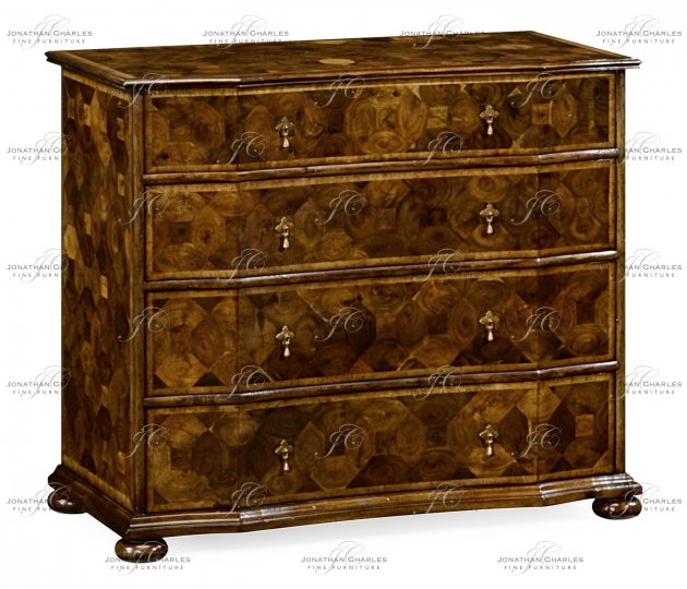 small rushmore Oyster veneer large chest of drawers