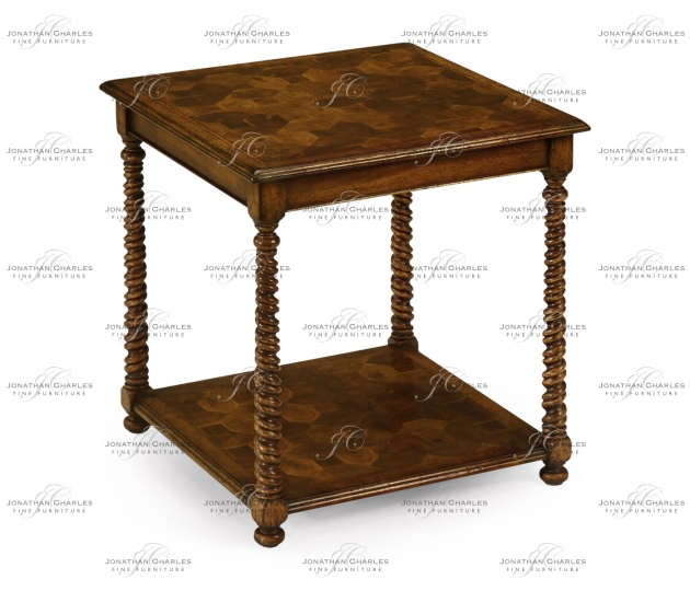 small rushmore Oyster veneer square side table