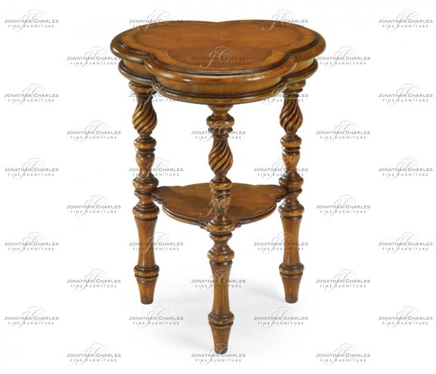 small rushmore Trefoil side table (Walnut)