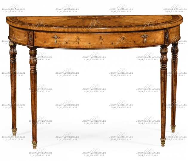 small rushmore Adam style console (Satinwood)