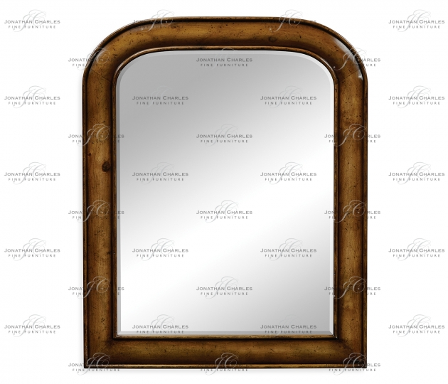 small rushmore Small walnut mirror with curved top