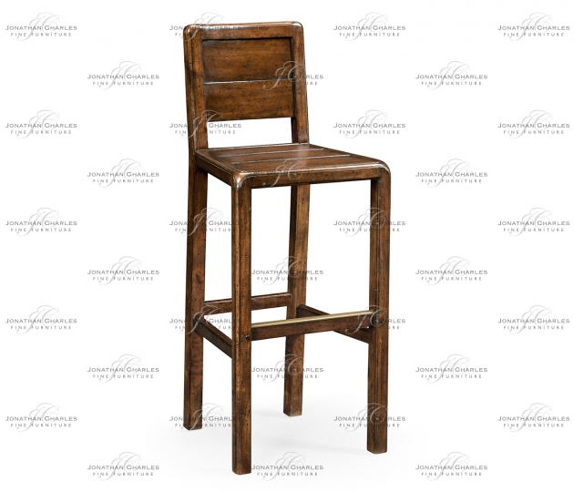 small rushmore Planked walnut barstool (Side)