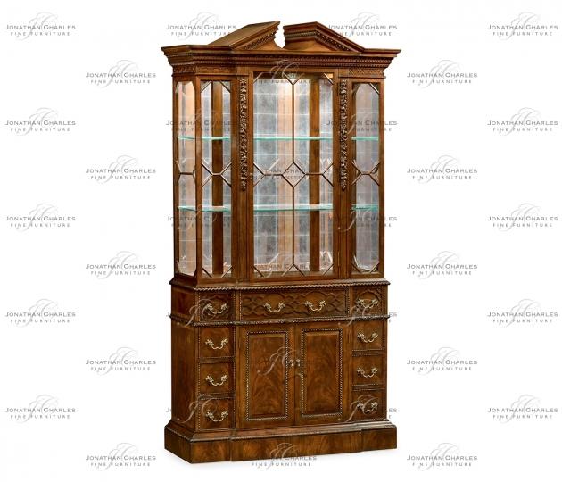 small rushmore Neo-Classical Mahogany China Cabinet