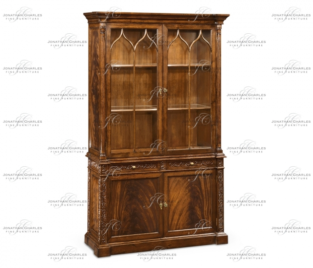 small rushmore George III Gothic Mahogany Glazed Cabinet