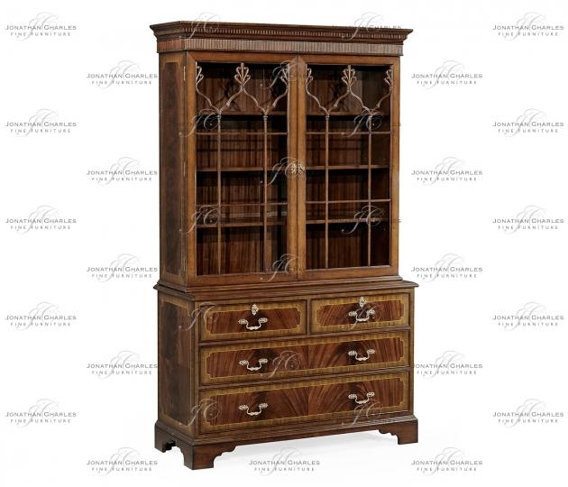 small rushmore Late Regency Mahogany Glazed Display Cabinet