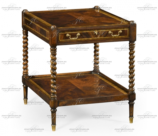 small rushmore Regency style square side table (Mahogany)