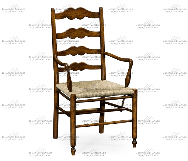 small rushmore Ladder back country chair with angled arms (Arm)