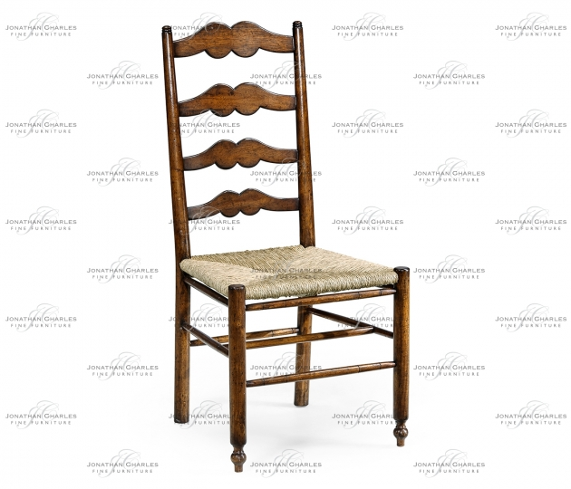 small rushmore Ladder back country chair with rushed seat
