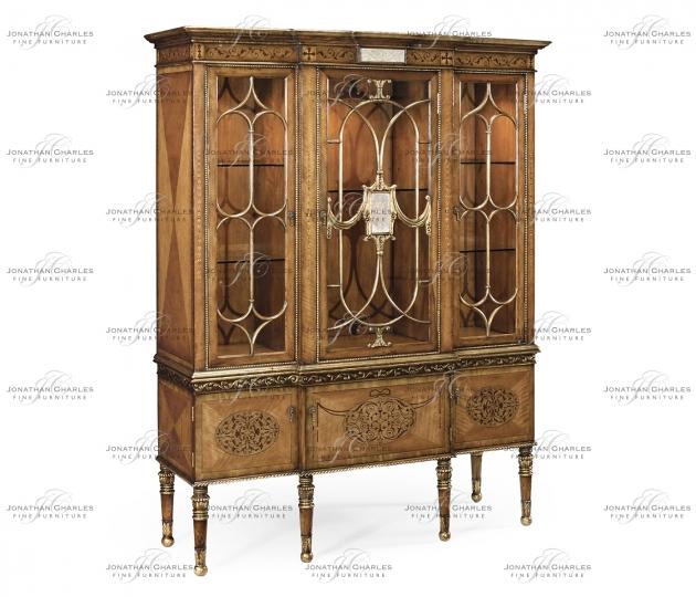 small rushmore Satinwood Display Cabinet