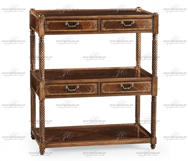 small rushmore Regency Style Mahogany Three-Tier Étagère Four Drawers