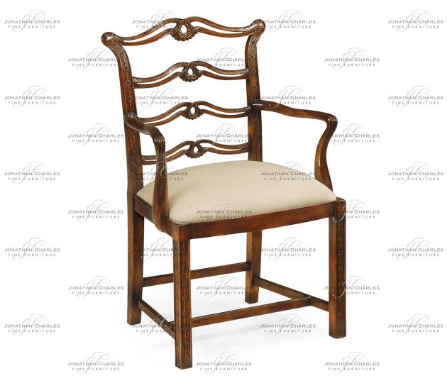 small rushmore Chippendale style mahogany pierced back dining armchair