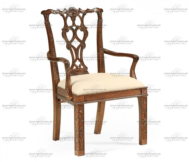 small rushmore Chippendale Rococo Quatrefoil Arm Chair